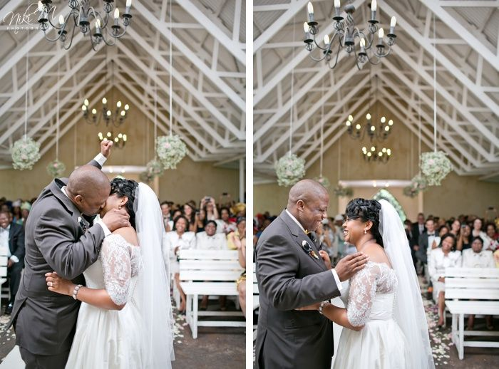 First Kiss Fist Pump; Unathi and Mtunzi's 1920′s Inspired Wedding; The Plantation, Port Elizabeth, South Africa