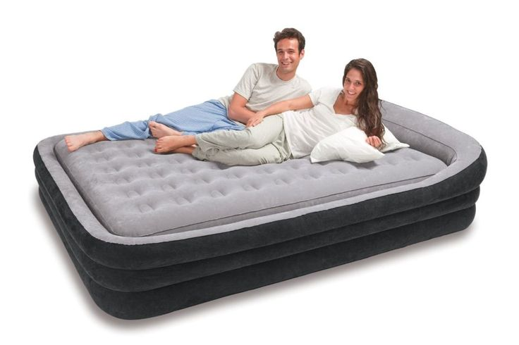 Inflatable Bed On Frame Air mattress camping, Air bed