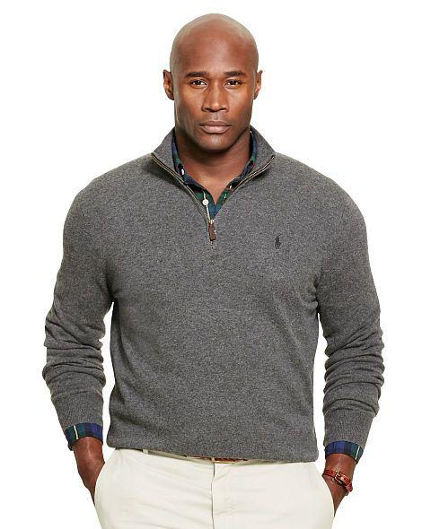 Merino Wool Half-Zip Pullover - Big & Tall Sale - RalphLauren.com