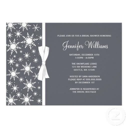 Winter Bridal Shower Invitations
