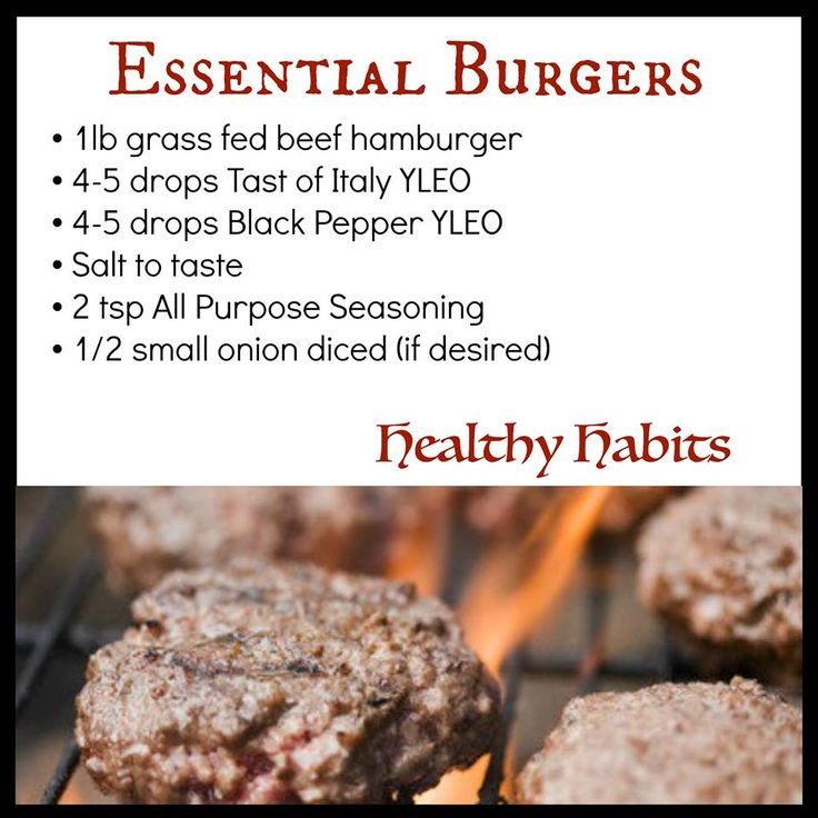 101 best essential oils food drink recipes images on pinterest young living essential oils burger recipe forumfinder Gallery