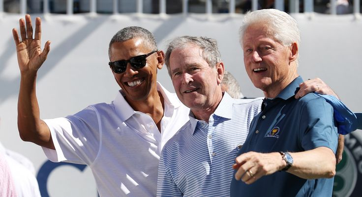Presidents Cup 2017: Barack Obama, George W. Bush and Bill Clinton open action at Liberty National - Barack Obama, George W. Bush and Bill Clinton open action at Presidents Cup at Liberty National.