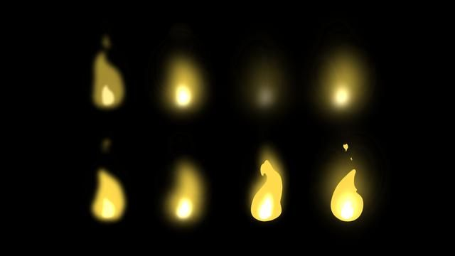 Torch Fire by Matt Timms. Short loop animation of a fire on a torch.