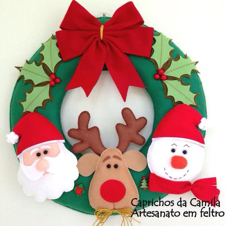 Guirlanda de Natal em feltro