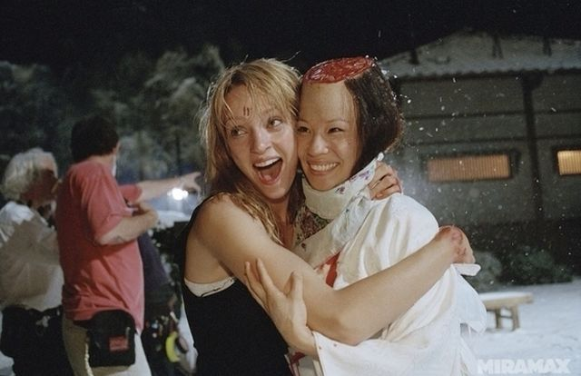 """20 Of The Best Behind-The-Scenes Photos From Our Favorite Films - """"Kill Bill"""" Those Heath Ledger ones are great!"""