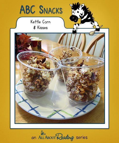 K is for Kettle Corn & Kisses: Your kids are going to love the sweet and salty crunchiness of Kettle Corn & Kisses! Find all our snacks at abc-snacks.com.