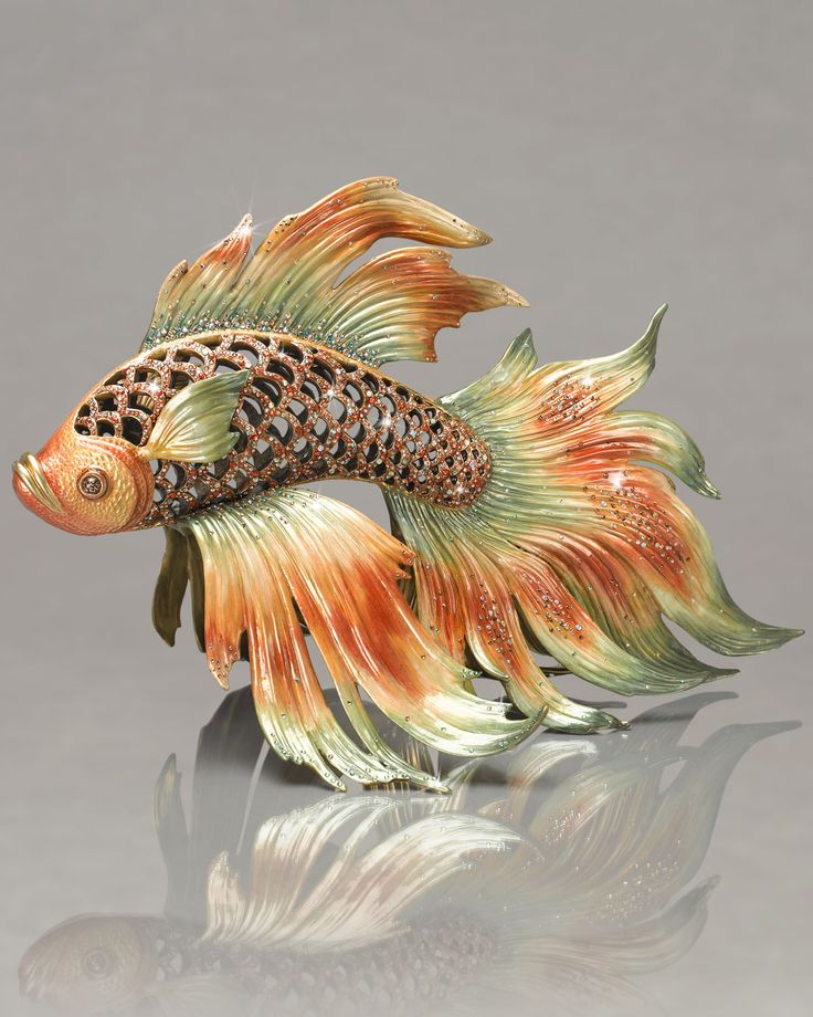 "Jay Strongwater ""Namiko"" Japanese Fighting Fish Figurine ..."