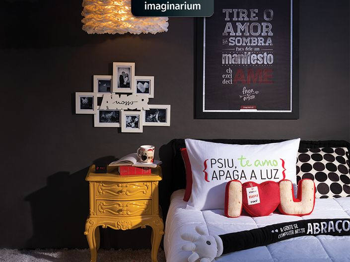 Pra rechear o quarto e a sua vida com amor + bom humor e criatividade, o segredo é passar na Imaginarium e conferir essas dicas aqui! #diadosnamorados #imaginarium #inspiracao