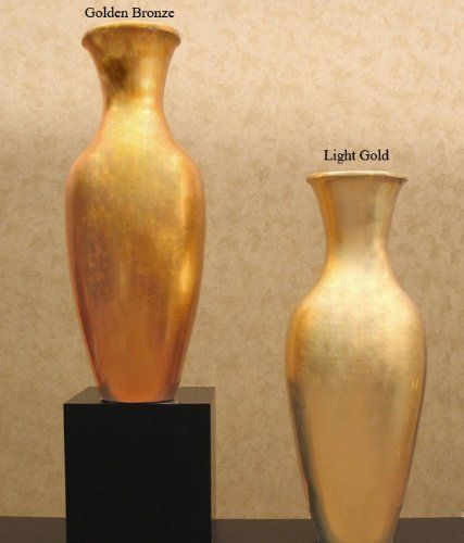 Shopping The Globe 28 Inch Classic Gold Bamboo Floor Vase Light Gold