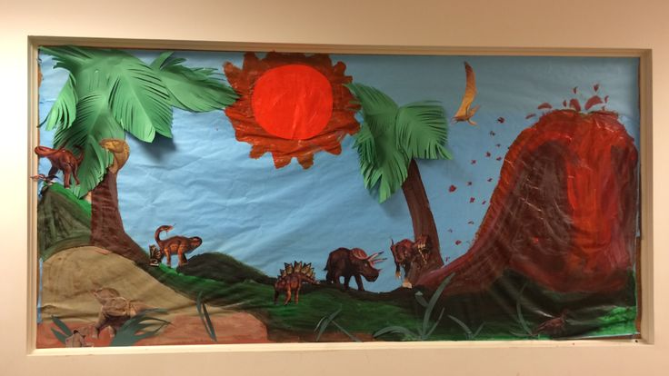 These dinosaur bulletin boards were a hit among students and teachers at Building Blocks!