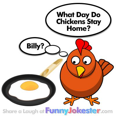 I love this cartoon. It's too funny. :) What Day of the Week Do Chickens Stay Home? A Funny Chicken Joke! New Funny Farm Jokes!