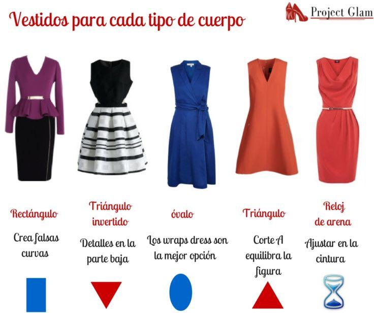 Cada tipo de cuerpo debe ser vestido de forma distinta. Debemos seleccionar las piezas que usamos dependiendo de nuestras características morfológicas. Aquí te dejamos un modelo de vestido para cada tipo de cuerpo.