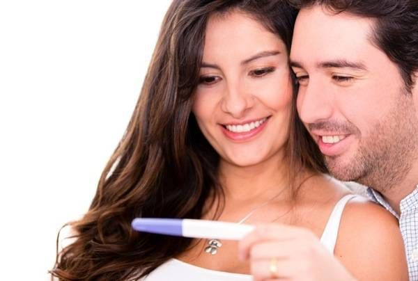 Couple taking a pregnancy test #sponsored #MC