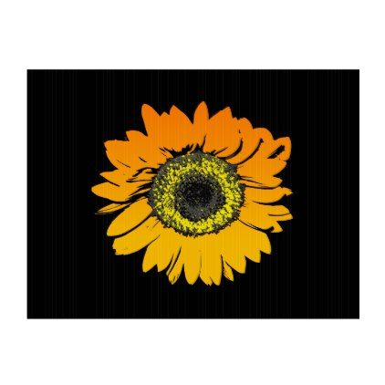 Sunflower Flower Art Design Lawn Sign - beauty gifts stylish beautiful cool