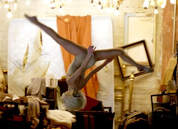 Maddie Ziegler performing Chandelier at the Grammy Awards