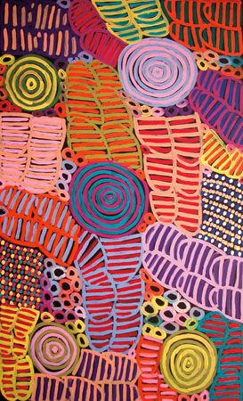 Betty Mbitjana - Bush Melon Dreaming, Aboriginal Art