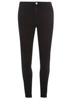 Womens **Tall Black Fly Front Lyla - High Waisted Tube Jeans- Black