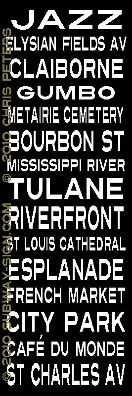 New Orleans -  my great aunt lived on Elysian Fields Ave. I rode the trolley to Canal Street many times!