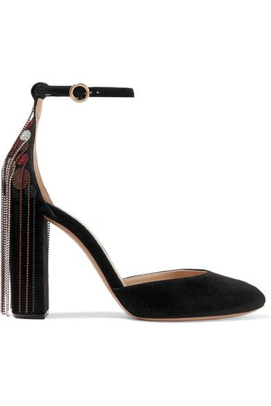 Chloé - Embellished Suede Pumps - SALE20 at Checkout for an extra 20% off