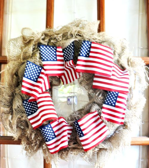burlap and flags...so simple