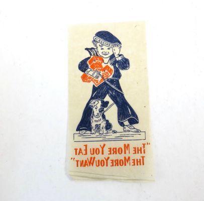 1940s Cracker Jack Tattoo Vintage