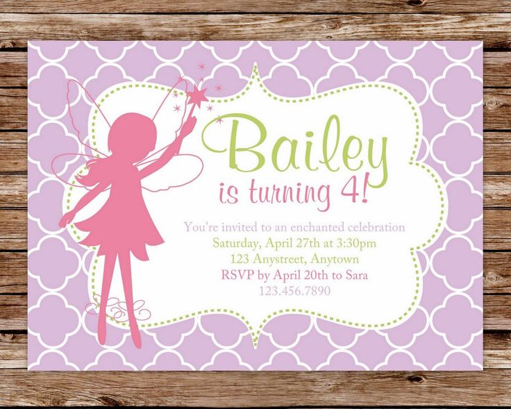 75 best party: fairy/woodland images on pinterest | fairy birthday, Invitation templates