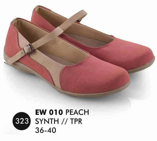 Sepatu Flat Wanita merek Everflow brand asli Bandung. Nyaman digunakan dan bahan terbukti nyaman digunakan.  Silahkan order dan jangan lupa untuk cek stok terlebih dahulu.   Tersedia ukuran: 36 – 40  Warna: SALEM  Bahan: SINTETIS  TPR   Rp. 124.000