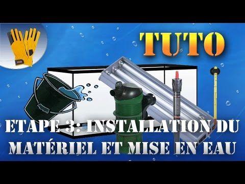 Installation du matériel et mise en eau - Aquarium 80L Tuto #4  #aquarium #installation #materiel
