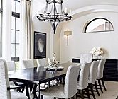Silver Sleek Dining Room | Dining Rooms | LUXE Source