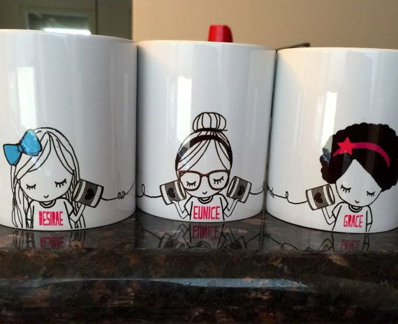 Best Friend Long Distance Coffee Mug SET (THREE MUGS)