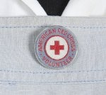 Pin from American Red Cross Volunteer uniform, 1940. (State Island Historical Society)