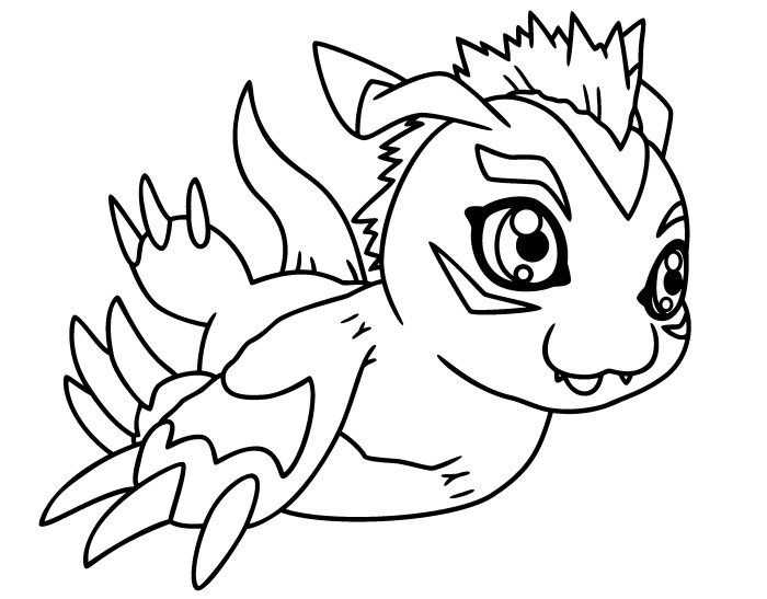 Gomamon Digimon Coloring Page If You Are Crazy About Sheets Will Love This Get Them For Free In DIGIMON