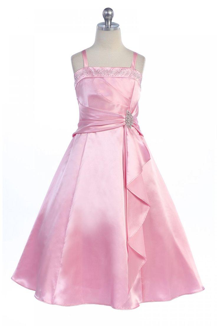 42 best Pink Flower Girl Dresses images on Pinterest | Bridesmaids ...