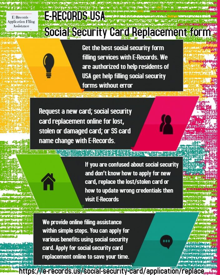 Social Security Card Replacement Form Get A New Card E Records Social Security Card Social Security Office Security