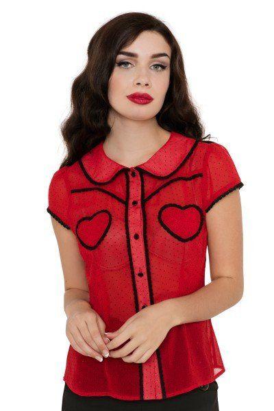 Cherry Ann 50's Sweetheart Top