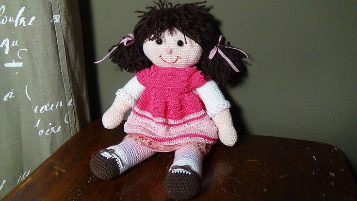 bambola all'uncinetto di Uncinettofra su Etsy