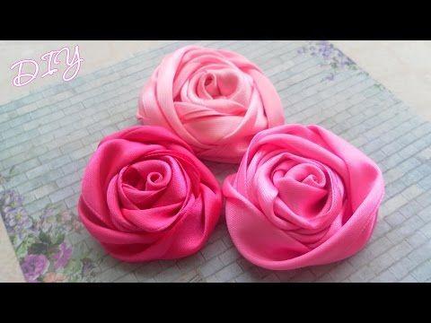 Мастер-класс: Как сделать красивые атласные Розы из лент для украшения одежды или аксессуаров. Tutorial: How to make Satin Ribbon Rose.  *******************...
