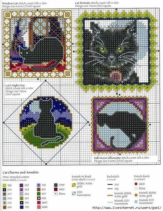 Gallery.ru / Фото #1 - Игольницы Черные кошки - mila010154