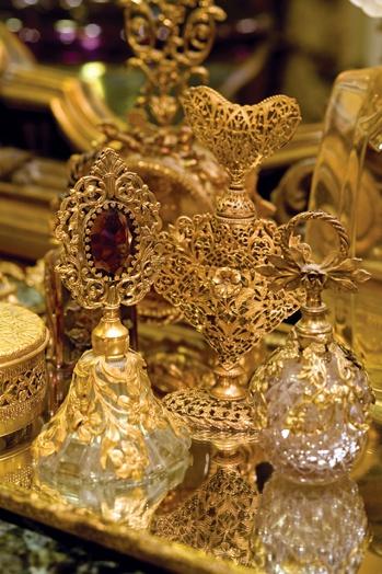 gorgeous antique perfume bottles. I want to collect these on my own over time via antique and yard sales.