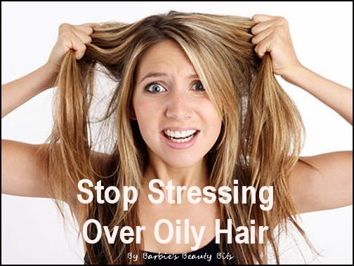 Stop stressing over oily hair, with great tips by Barbie's Beauty Bits. #tips, #DIY, #beauty, #hair