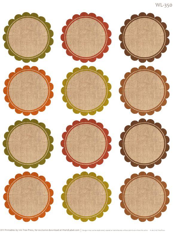 350-redondas etiquetas en blanco