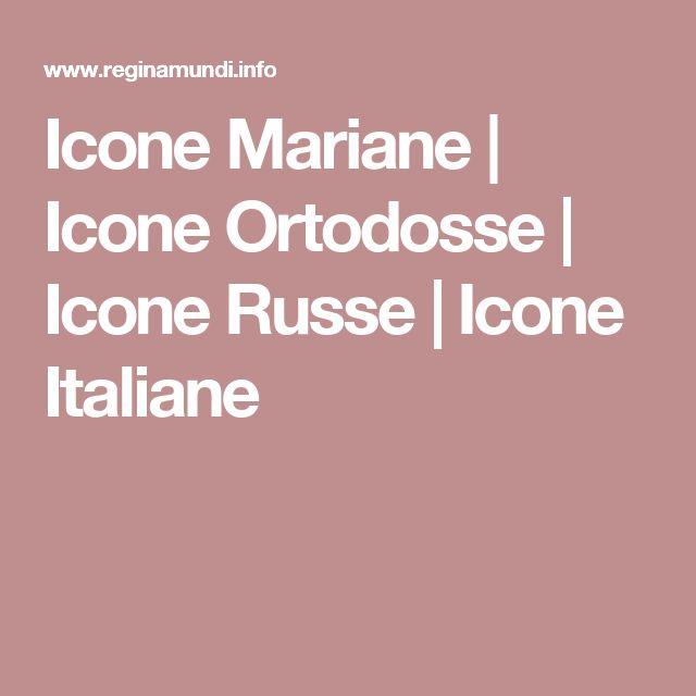 Icone Mariane | Icone Ortodosse | Icone Russe | Icone Italiane