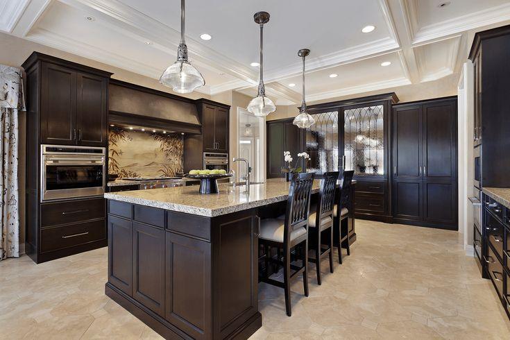 Kitchen floor ideas with dark cabinets