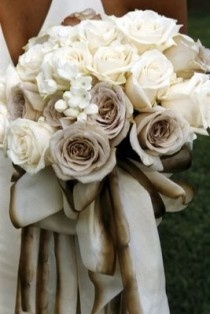 Cream and Taupe Colored Bouquet