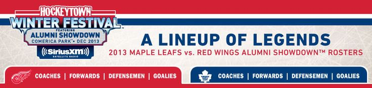 A Lineup of Legends Alumni Showdown Rosters - Detroit Red Wings - 2014 NHL Winter Classic Home