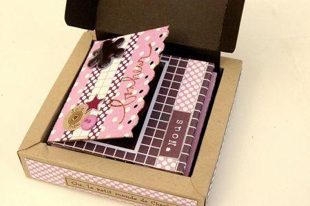 tutoriel mini album in a box