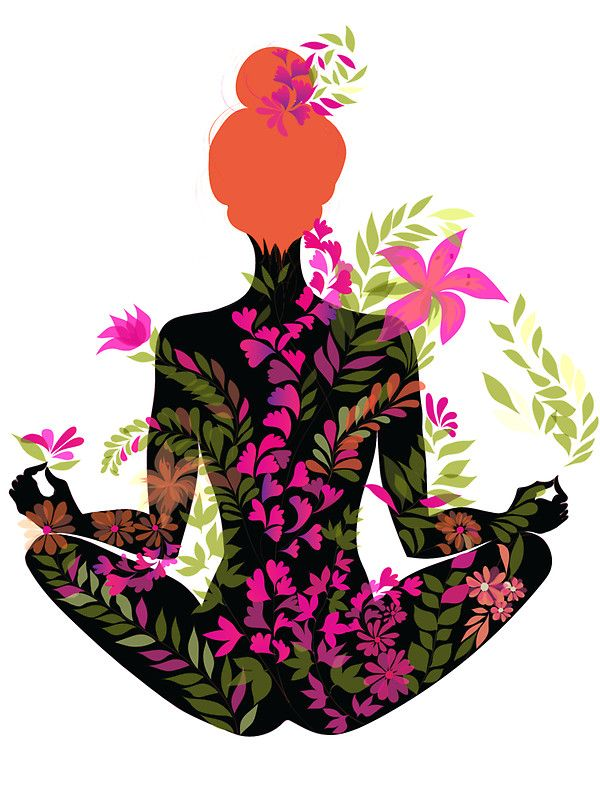 """""""flower meditation in pink and purple"""" Stickers by anneamanda 