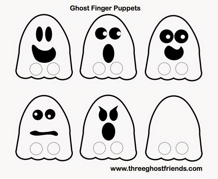 Three Ghost Friends: Ghost Finger Puppets - FREE HALLOWEEN PRINTABLE