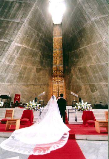 椿山荘の向かいの東京カテドラル教会での結婚式♡荘厳なウェディングの参考にしたいブライダル・結婚式のアイデア☆
