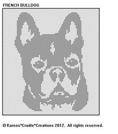 FRENCH BULLDOG Filet Crochet Pattern